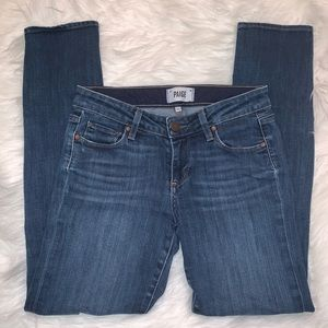 Paige Skyline Ankle Peg Jeans Size 26